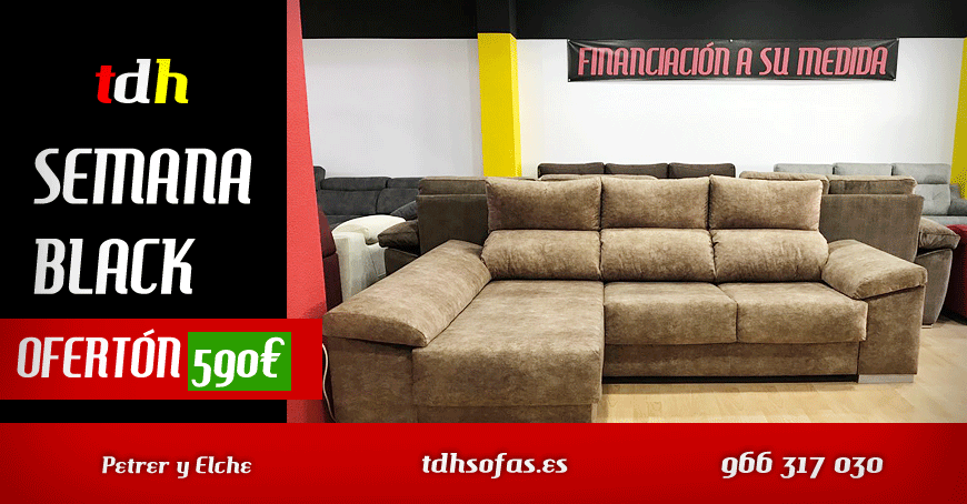 Black friday sofas colchones en elche petrer y elda for Black friday chaise longue