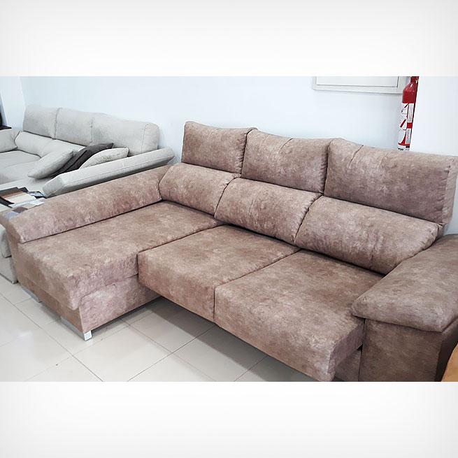 Oferta de sofá marrón en telas antimanchas